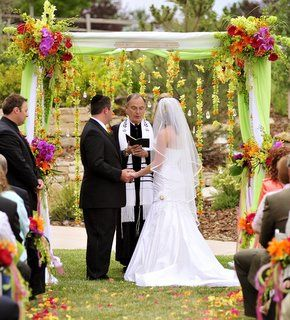 """Arc de Belle Fully Draped White Wedding Chuppah the """"New England Canopy"""" Available in Los Angeles..."""