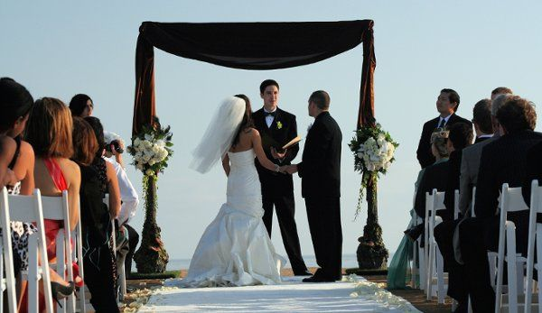 Arc de Belle's Sherwood Forest Square Wedding Arch With Chocolate Scarf - Available Los Angeles...