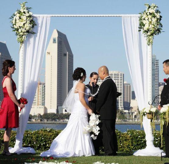 Arc de Belle Modern Chic White Wedding Arch, The Urban Panache Square