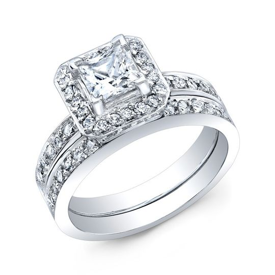 country club jewelers diamond wedding set