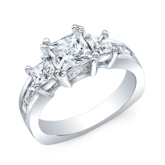country club jewelers white diamond engagement rin