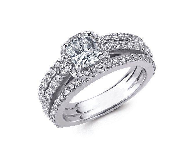 white diamonds wedding set fullerton ca ccj