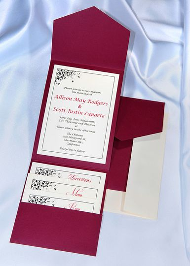 Beautiful Burgundy Elegance All In One Kit, everything you need for the perfect invitation. Use our...