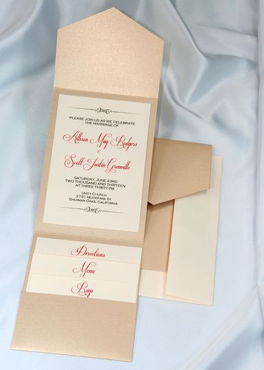 Beautiful Golden Pearl Elegance All In One Kit, everything you need for the perfect invitation. Use...