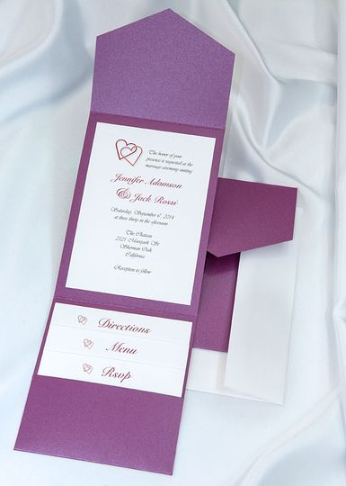 Beautiful Purple Elegance All In One Kit, everything you need for the perfect invitation. Use our...