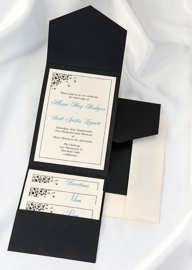 Beautiful Black Elegance All In One Kit, everything you need for the perfect invitation. Use our...