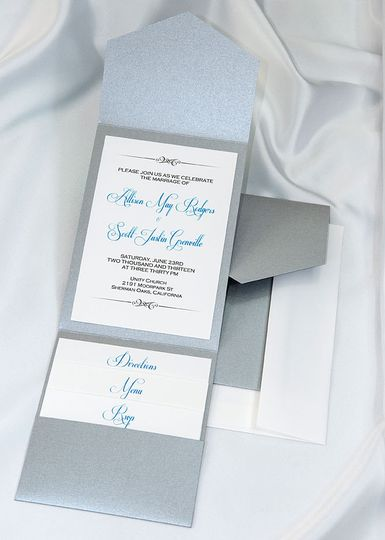 Beautiful Silver Elegance All In One Kit, everything you need for the perfect invitation. Use our...