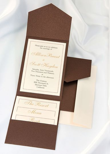 Beautiful Bronze Elegance All In One Kit, everything you need for the perfect invitation. Use our...