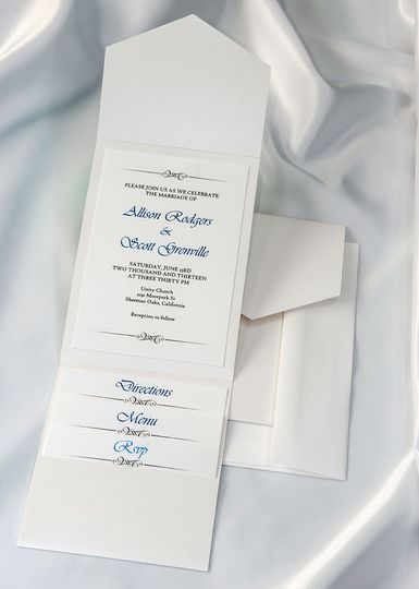 Beautiful White Elegance All In One Kit, everything you need for the perfect invitation. Use our...