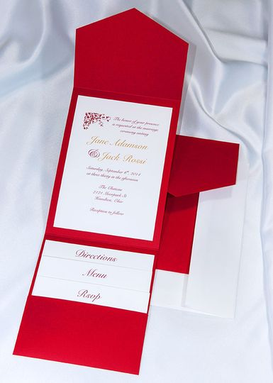 Beautiful Red Elegance All In One Kit, everything you need for the perfect invitation. Use our...