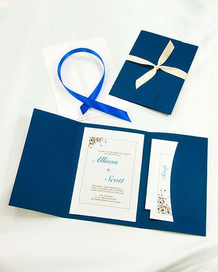 Navy Blue Pocket Folder Kit: Our lovely build your own Pocket Folder kits allow you to customize...