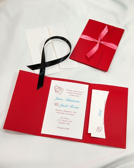 Red Pocket Folder Kit: Our lovely build your own Pocket Folder kits allow you to customize with...