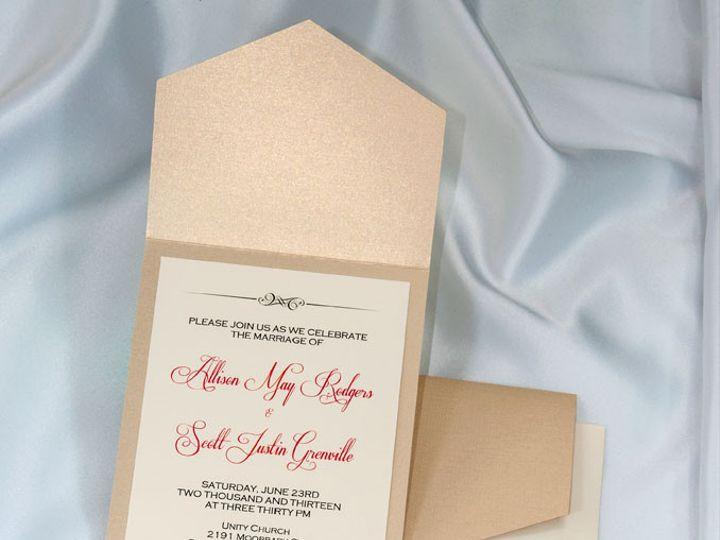 Tmx 1415210988833 Pocket Invitations Golden Pearl Boulder wedding invitation