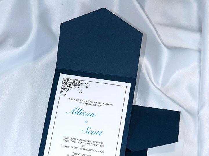 Tmx 1415211009848 Pocket Invitations Navy Blue Boulder wedding invitation