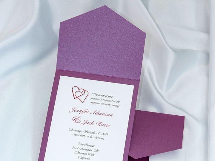 Tmx 1415211033292 Pocket Invitations Purple Boulder wedding invitation