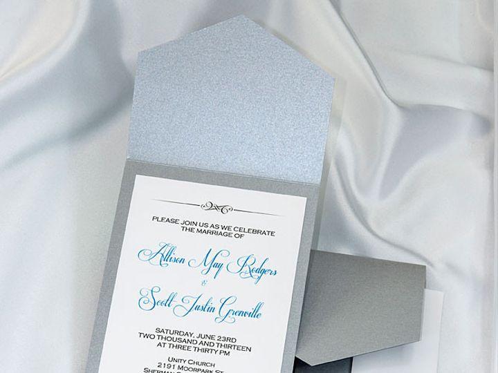 Tmx 1415211070049 Pocket Invitations Silver Boulder wedding invitation