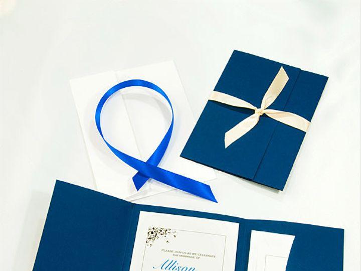 Tmx 1415219110062 Pocket Folder Invitation Evening Blue Boulder wedding invitation