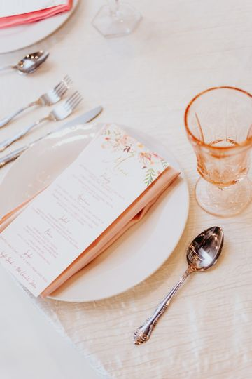 Menu - Photo by: Alyssa Grace Photography