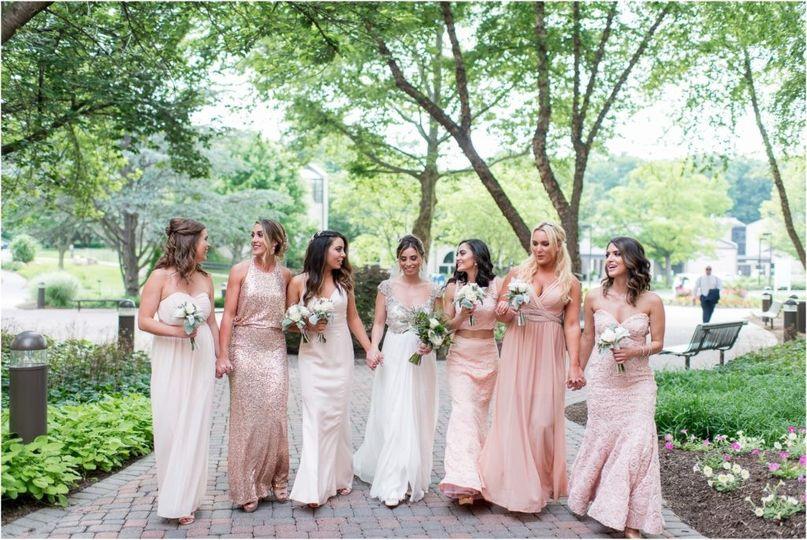 r tanya n logan bridesmaid spring osgood garden