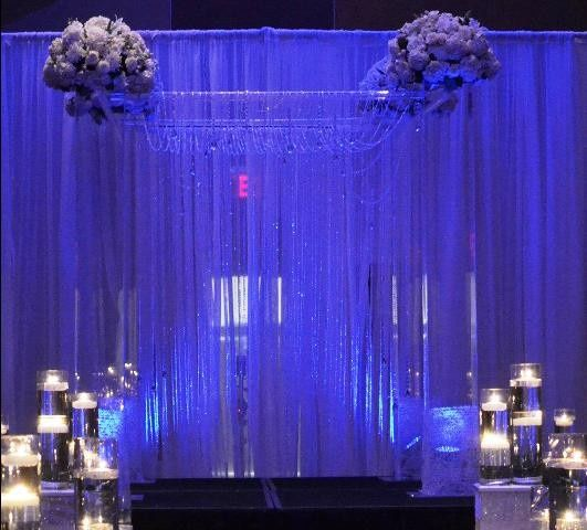 Tmx 1426513921751 Chuppah Polel Style Hanging Crystals Oak Ridge, New Jersey wedding rental