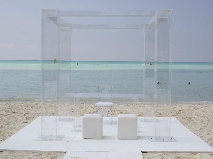 Tmx 1426513960081 Lucite Chuppah Aruba Table Set Ocean Oak Ridge, New Jersey wedding rental