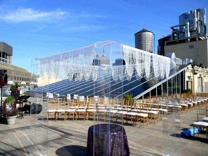 Tmx 1426513970949 Tribecca Rooftop Chuppah Crystal Valance Roof Top  Oak Ridge, New Jersey wedding rental