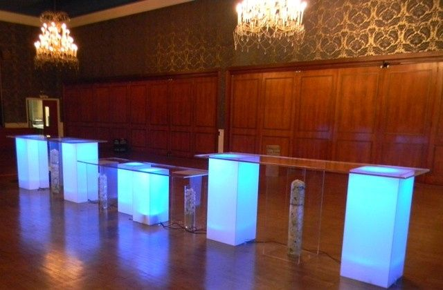 Tmx 1426514077573 Lucite Bar Table Set Translucent Uplit Bue Display Oak Ridge, New Jersey wedding rental