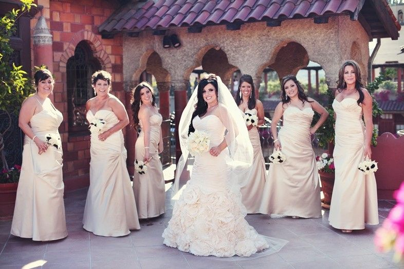 the bride and bridemaids