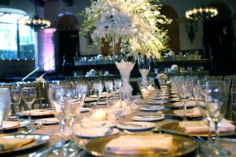 Table setup for the reception