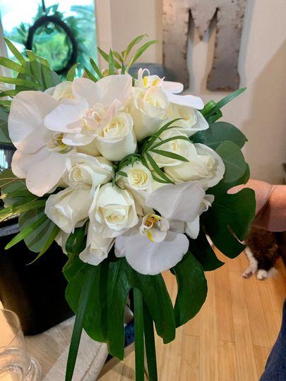 White Orchids & Roses Bouquet