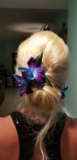 Blue Dendrobium Hair Piece