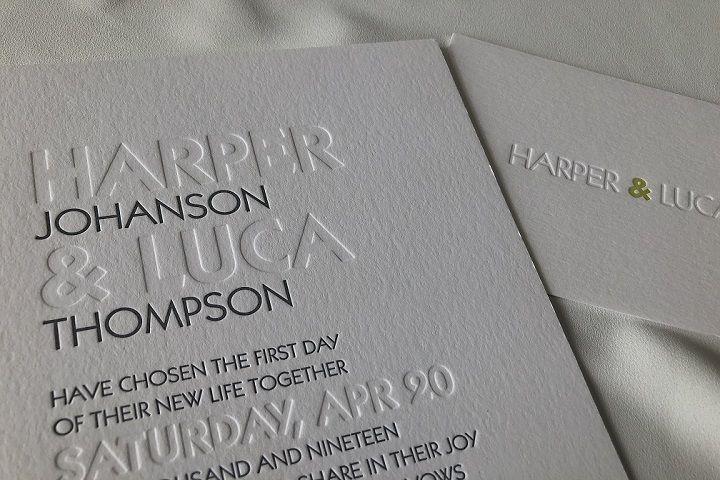 Embossed letterpress