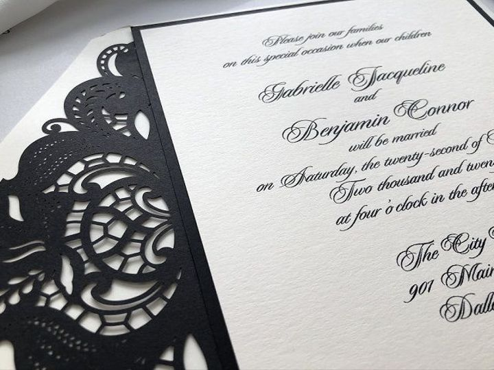 Tmx 1516153715 D2bf8d5587af4854 1516153714 0de6d40ed40579f8 1516153713194 2 Black Lace Liner 2 West Orange, New Jersey wedding invitation