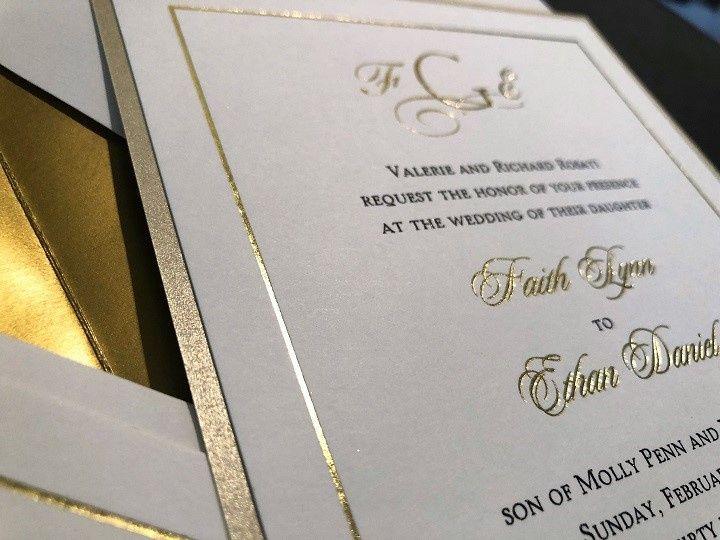 Tmx Black Raised W Gold Foil Gold Shimmer Backer 51 995635 157756808859597 West Orange, New Jersey wedding invitation