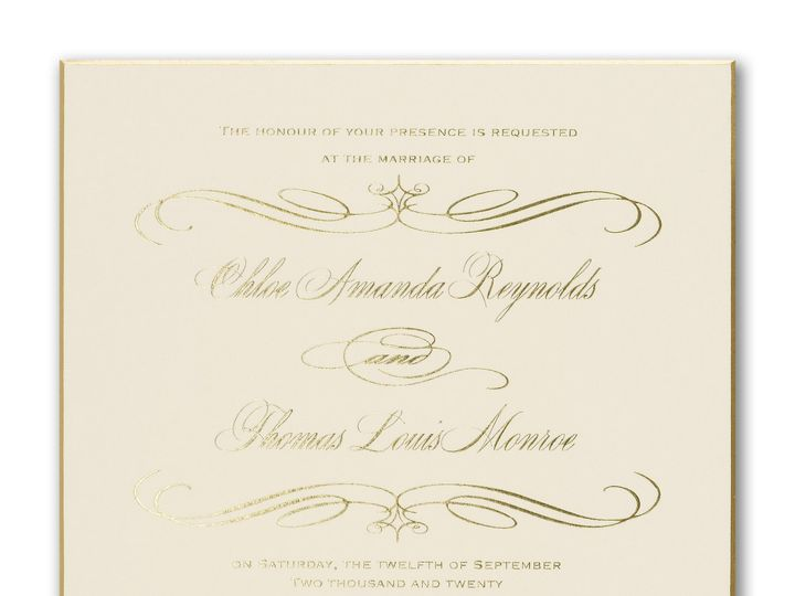 Tmx Gold Foil Invite 51 995635 West Orange, New Jersey wedding invitation