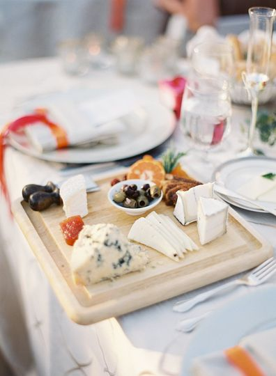 Table set cheese boards