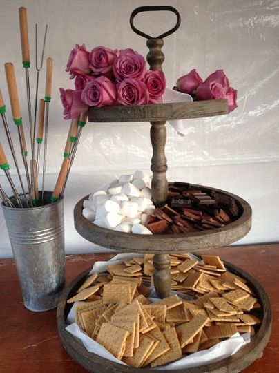S'more station with homemade graham crackers