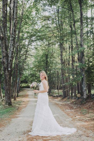 Bridal portrait in NH