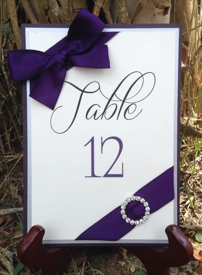 Dark purple and silver ribbon