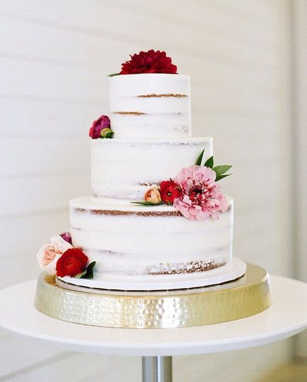 503838d95c89d740 naked cake with florals
