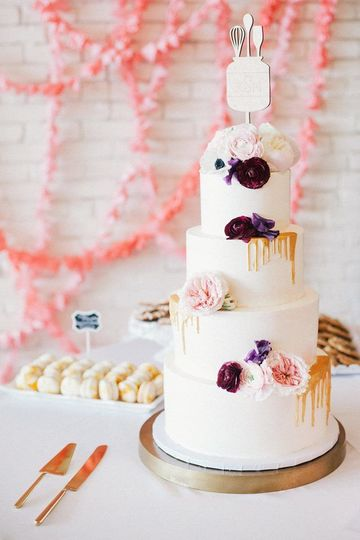 Custom three tiered cake