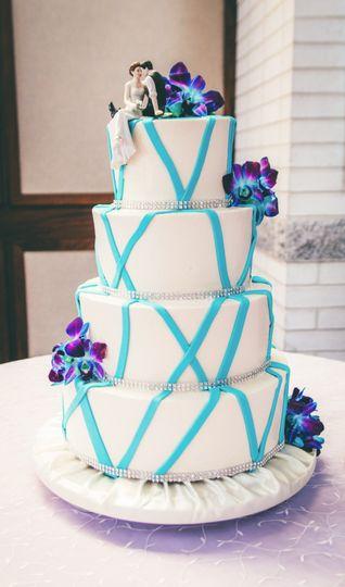 Fondant Stripes Cake