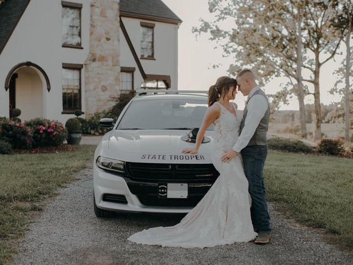 Tmx Delaney With Alan Patrol Car 51 420735 162447777716610 Pelham, NC wedding venue