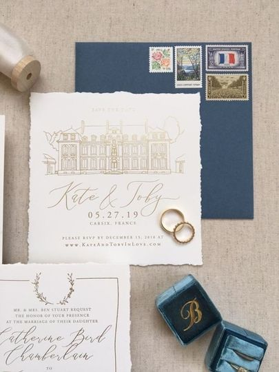 French Chateau Save the Date