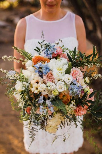 Modern wildflower bouquet