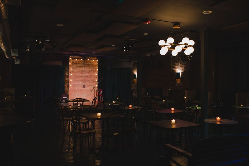 Cabaret style space at night