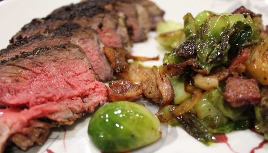 Ribeye and brussels
