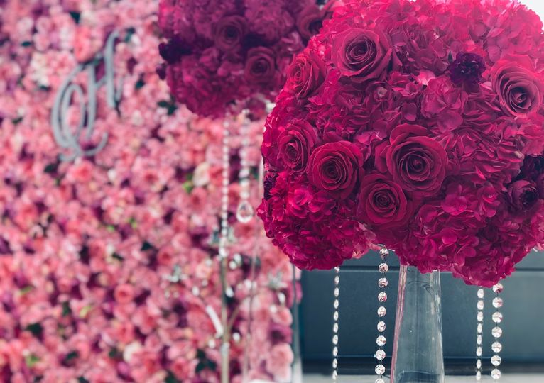 Fuchsia Ceremony Centerpiece