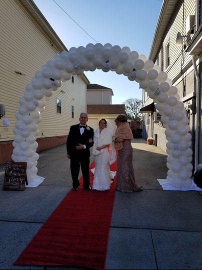 Lovely wedding arch