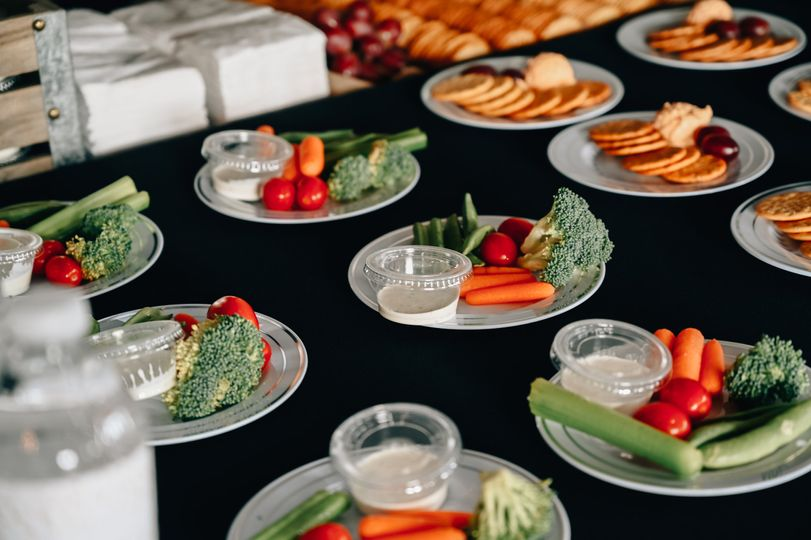 Plated appetizers, served in style